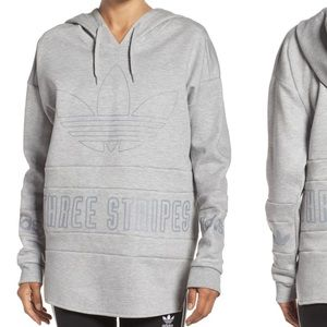 NWT🏃🏼♀️ adidas 🏃🏼♀️ 3 stripe hoodie xl